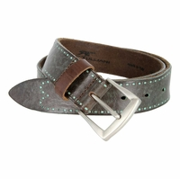 Tulliani Pezzato Dot Edge Tooled Leather Belt