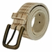 Tulliani Plaid Illusion Belt with Brass Buckle - Cream1