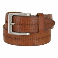 Tulliani Puntini Tooled Leather Belt - Tan