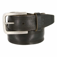 Tulliani Traspirante Perforated Tooled Leather Belt - Black