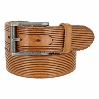 Tulliani Vicoli Tooled Leather Belt - Tan