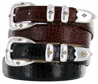 Tuscon Gold Mens Italian Calfskin Genuine Leather Designer  Belt  $32.50