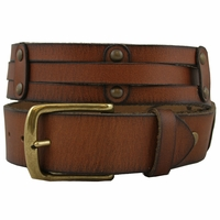 Tyler 100% Leather Vintage Style Casual Jean Belt