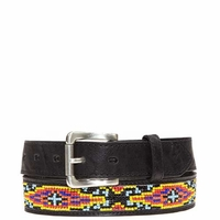 Umpqua Beaded Belt Black