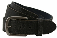 V56 Distress Black Leather Belt-1-1/2""