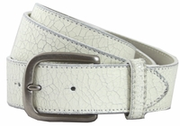 V56 Distress White Leather Belt-1-1/2""