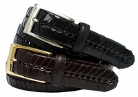 "Victory Braided Men's Leather Belt 1 3/8"" Wide $25.95"