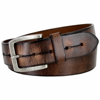 """Vintage Style Casual Jeans Leather Belt for Men 1-1/2"""" wide 131044"""