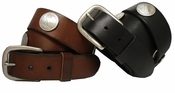 Walking Liberty Half Dollar Coin Conchos Full Grain Leather Biker Belt $34.95