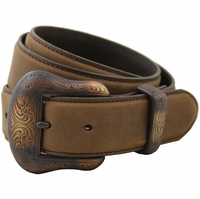 "Western 7's Copper Cowhide Belt 1-1/2"" Wide"