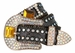 Western Cowgirl Crystal Gem Bling Rhinestone Leather Belts1