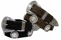 Western Leather Concho Belts (Click here to see more Styles)