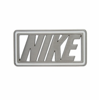 White Enamel Edged NIKE Buckle