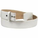 """White Smooth Leather Belt Strap 1 1/2"""" wide"""