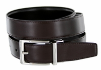 "4089E Reversible Leather Dress Belt (1-1/8"" or 30mm) Brown/Black"