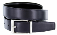 "4089E Reversible Leather Dress Belt (1-1/8"" or 30mm) Navy/Black"