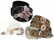 Womens  Rhinestone Belts