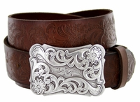 Xanthe Women's Western Belt Buckle Full Grain Leather Belt