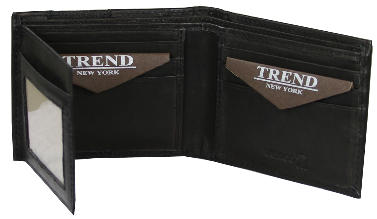 YB-3084 A Trend New York Apolo Collection Genuine Leather Casual/Dress Wallet - Black