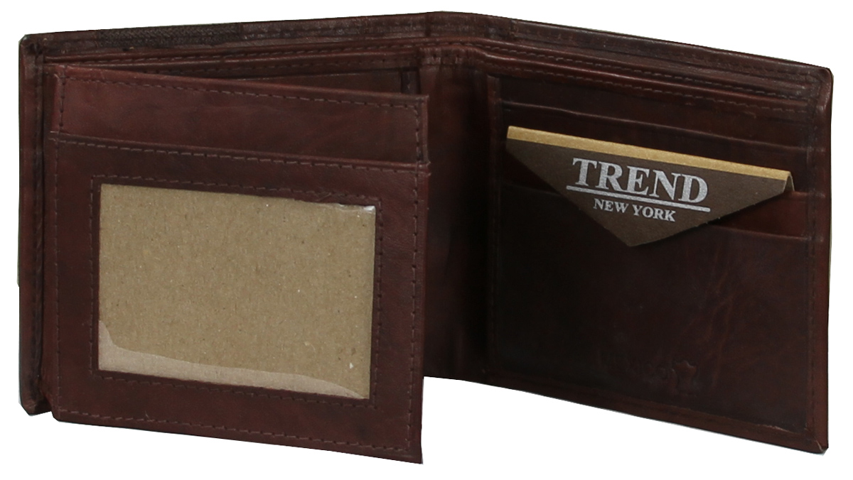 YB-3084 A Trend New York Apolo Collection Genuine Leather Casual/Dress Wallet - Brown