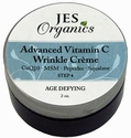 Natural Organic Infused Advanced Vitamin C Wrinkle Creme with Peptides, Squalane, Glycolic & Hyaluronic Acid