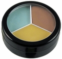 Organic Infused Natural Triple Concealers - Yellow, Neutral, Green