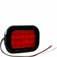 Buyers - Light, 5.3In, Rect., Stop/Turn/Tail, 15 Led,