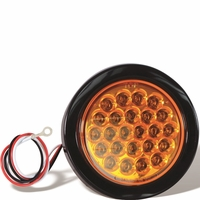 Buyers - Light, Strobe, 4In Round,  Amber, (24) Led,