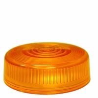 PM   102-15A   Amber Repl. Lens   Round Clearance/Side Marker Replacement Lens