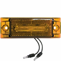 Piranha � LED   M187A-BT2   Amber w/.180 bullets   Clearance & Side Marker Light w/Reflex (2-Wire)