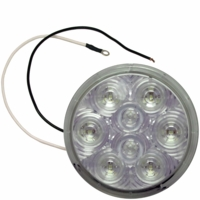 "Great White �   M417C-5-MV   White, Multi-Volt   LED 4"" Round Back-Up Light"