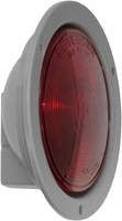 "PM   M424R   Red w/Flange   Round 4"" Stop, Turn, & Tail Light"