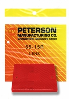 PM   55-15R   Red Side Marker Lens   Clearance/Side Marker Replacement Lens
