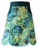 Blue Rose Half Apron