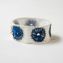 SOLD Blue Spokes Bracelet