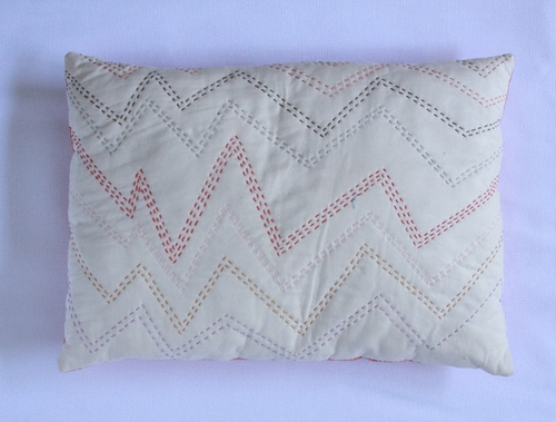 Handquilted Airwaves Pillow