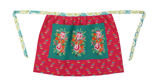 Framed Flowers Half Apron