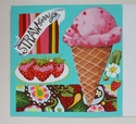 Strawberry Ice Cream Painting
