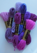 Vase of Violets Wool Palette