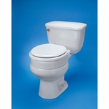 Ableware 725711005 Hinged Elevated Toilet Seat Elongated