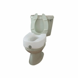 Ableware 725753101 (725753100) Lock-On Elevated Toilet Seat-w/out Arms