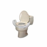 Ableware 725753211 Bath Safe Elevated Toilet Seat with Arms Regular