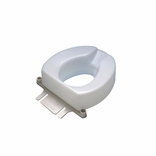 "Ableware 725831002 2"" Contoured Tall-Ette Elevated Toilet Seat-Elongated"