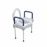 Ableware 725882000 Extra Wide Tall-Ette Elevated Toilet Seat with Legs