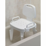 Ableware 727142121 (727142120) Adjustable Shower Seat w/ Arms and Back