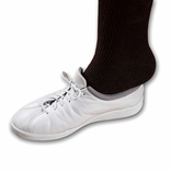 Ableware 738130030 Perma-Ty Elastic Shoelaces White 30 Inch