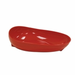 Ableware 745371004 Skidtrol Red Scooper Dish with Non-Skid Base