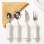 Ableware 746200014 Maddadapt II Utensil Set-Teaspoon, Soup Spoon, Knife, Fork