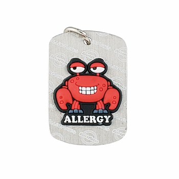 AllerMates Dog Tags Crabby Shellfish Allergy