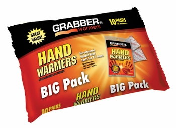Arthritis Hand Warmers (Pack of 10) J-Hook Poly Bag